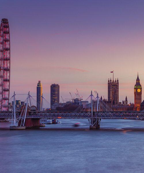 London cityscape over river Thames